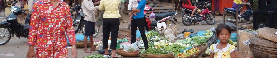 The market in Kratie, and kmart pajamas