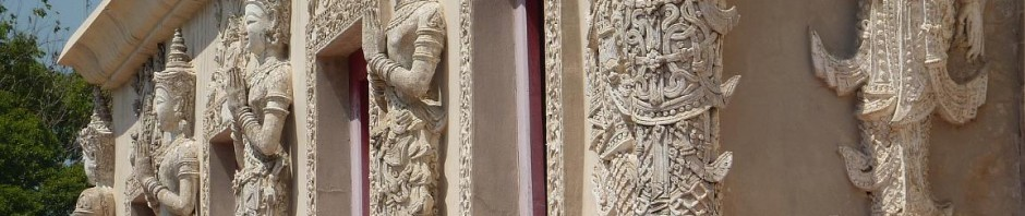 Lanna wood carvings decorate the scripture library at Wat Phra Singh