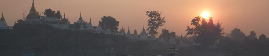Sunrise from the Ayerwaddy River, Sagaing
