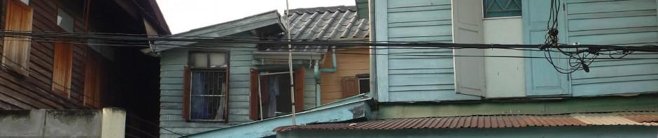 houses on alley, Dusit, Bangkok