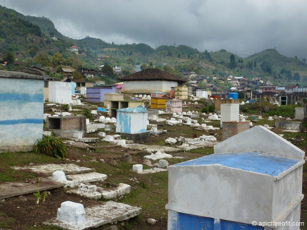 The cemetery in San Gaspar Chajul had a completely different look
