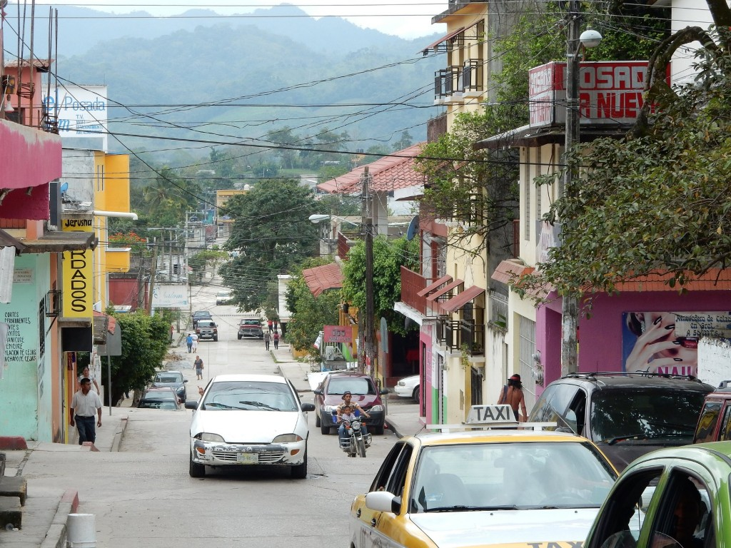 There were really beautiful views of the jungle shrouded mountains from some of the hilly streets in the pueblo of Palenque