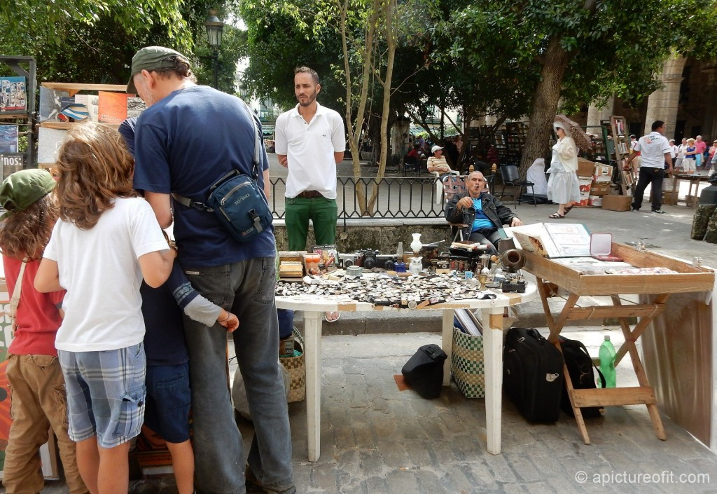 The Plaza de Armas hosts an open air book and junk market